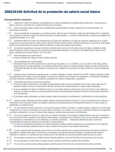 salario social asturias